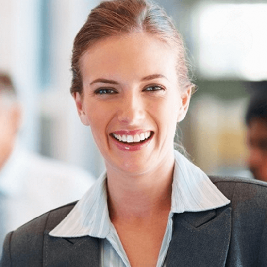 Professional woman smiling