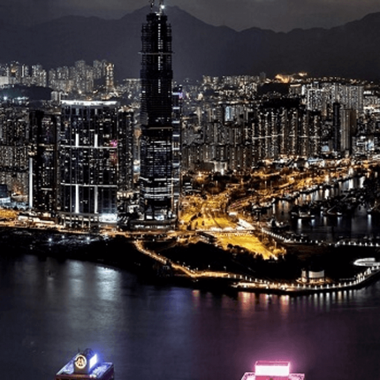 Night skyline of Hong Kong