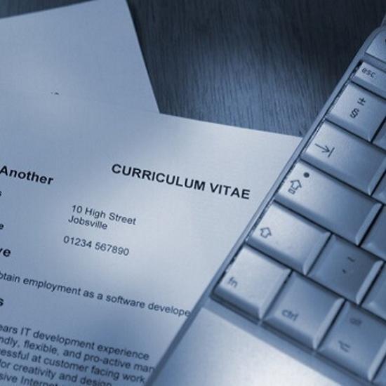 Image of CV and keyboard