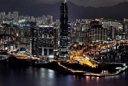 Night skyline of Hong Kong